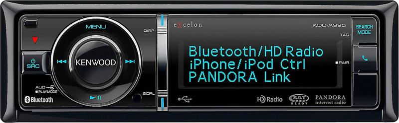 Kenwood Excelon KDC-X995 Receiver Built-in Bluetooth & HD Radio